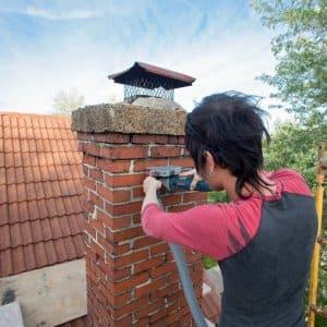 Chimney mason work