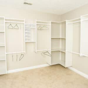 closet with neutral paint colors