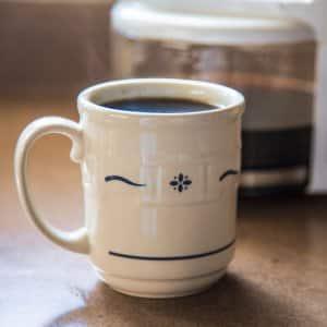 warm coffee in mug