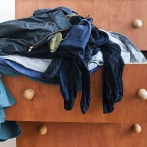 overflowing dresser drawers