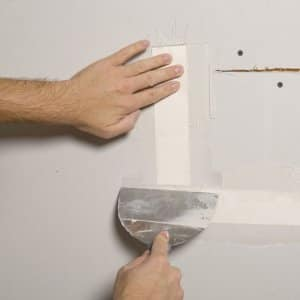 patching the seams on drywall repair