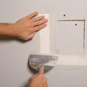 spackling a fixed hole in drywall