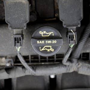 engine oil cap inside car engine