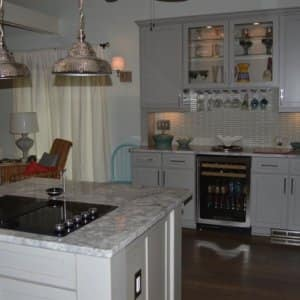 Homeowners can choose from custom, semi-custom and stock cabinets. (Photo courtesy of Charlotte member William H.)