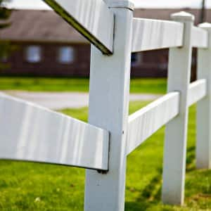 white split rail wood fence
