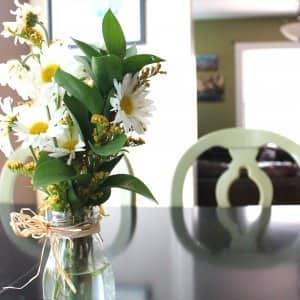 fresh flowers on table