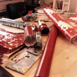 gift-wrapping station