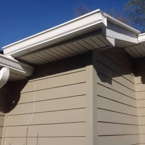 gutters on a house with siding