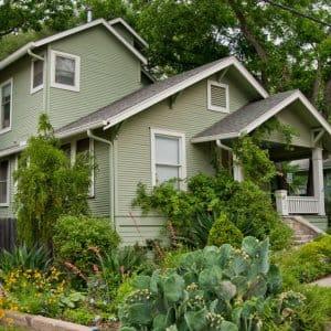 green siding house
