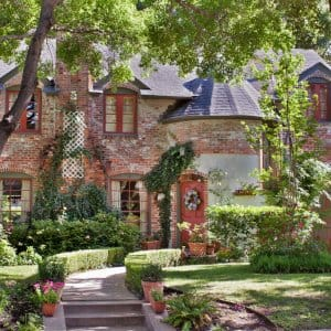 home exterior, brick house, English landscape