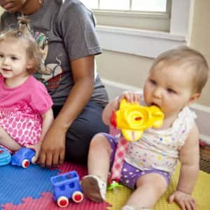 kids chewing on toys