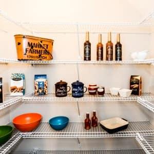 organizing a kitchen pantry