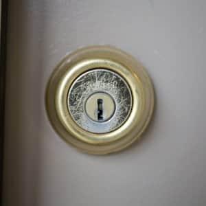 deadbolt door lock (Photo by Eldon Lindsay)
