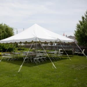 party tent (Photo by )