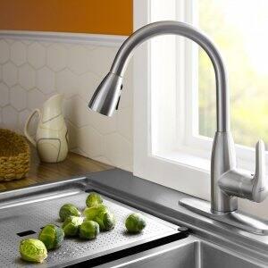 pull-down faucet food prep