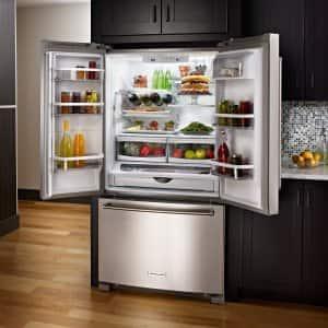 an open refrigerator full of food