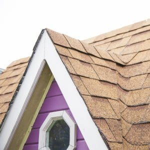 Roof soffit and fascia on home gable