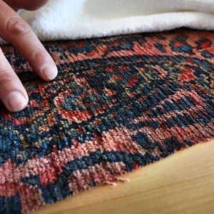 hand on rug
