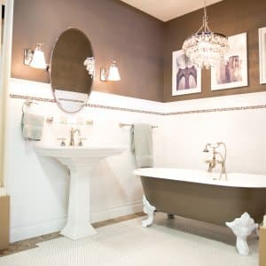 completed bathroom remodel project