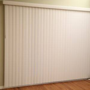 vertical blinds in living room