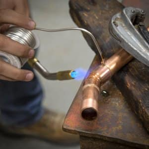 brazing copper piping