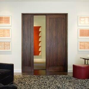 TruStile Doors wood panel pocket doors inside home