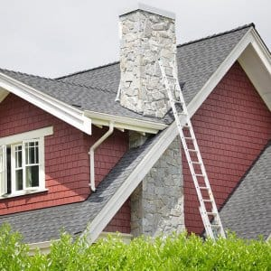 Ladder against house with chimney (Photo by  Temmuzcan/E+/Getty Images)