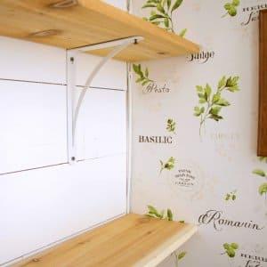 Upgrade a boring closet by giving it some farmhouse flare. (Photo courtesy of Deb Foglia/Seeking Lavender Lane)