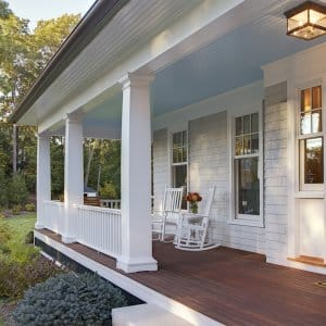 Front porch of home (Photo by David Papazian via gettyimages.com)