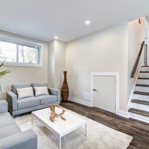 Modern finished basement of a home (Photo by Anatoli - stock.adobe.com )