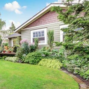 Nicely landscaped back yard (Photo by Iriana Shiyan - stock.adobe.com)