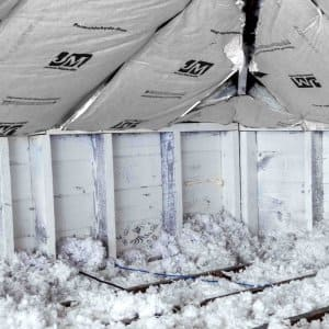 blown-in insulation in attic (Photo by Photo by Katelin Kinney   )