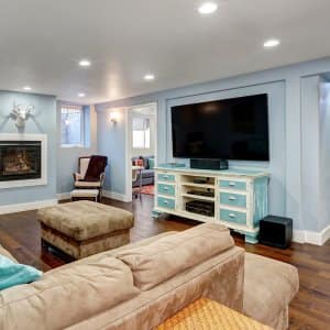 Basement living room interior (Photo by Iriana Shiyan - stock.adobe.com)