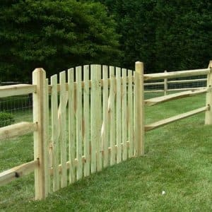 an unfinished fence