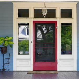 Front door on house (Photo by Ryan McVay / The Image Bank via Getty Images)