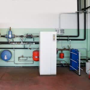 a geothermal heat pump in basement (Photo by © caifas - stock.adobe.com)