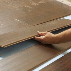 laminate flooring in a room
