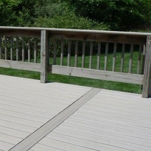 composite deck boards installed over old wood