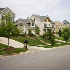 a suburban residential street