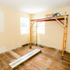 interior painting scaffolding