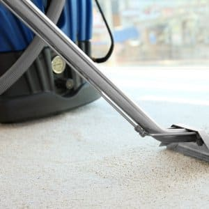 Steam vapor cleaner removing dirt from cream colored carpet (Photo by Africa Studio - stock.adobe.com)
