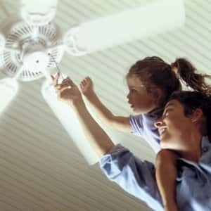 Turning on ceiling fan (Photo by Steve Cicero / Corbis Documentary via Getty Images)