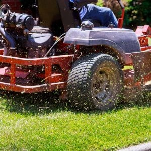 Mowing with zero turn lawn mower (Photo by ungvar - stock.adobe.com)