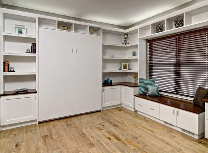 A folded-up Murphy bed.