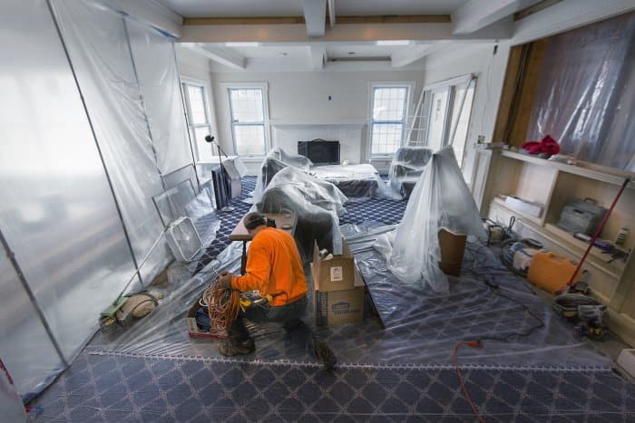 Some rooms become unusable during a remodel. (Photo by Frank Espich)