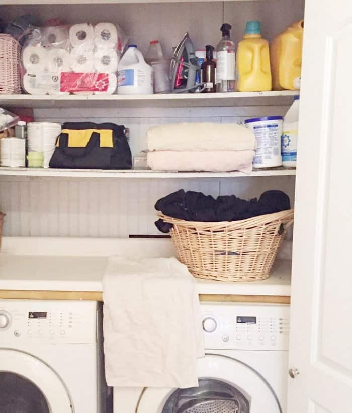 DIY Expert Courtney Allison's Laundry Room Refresh Before