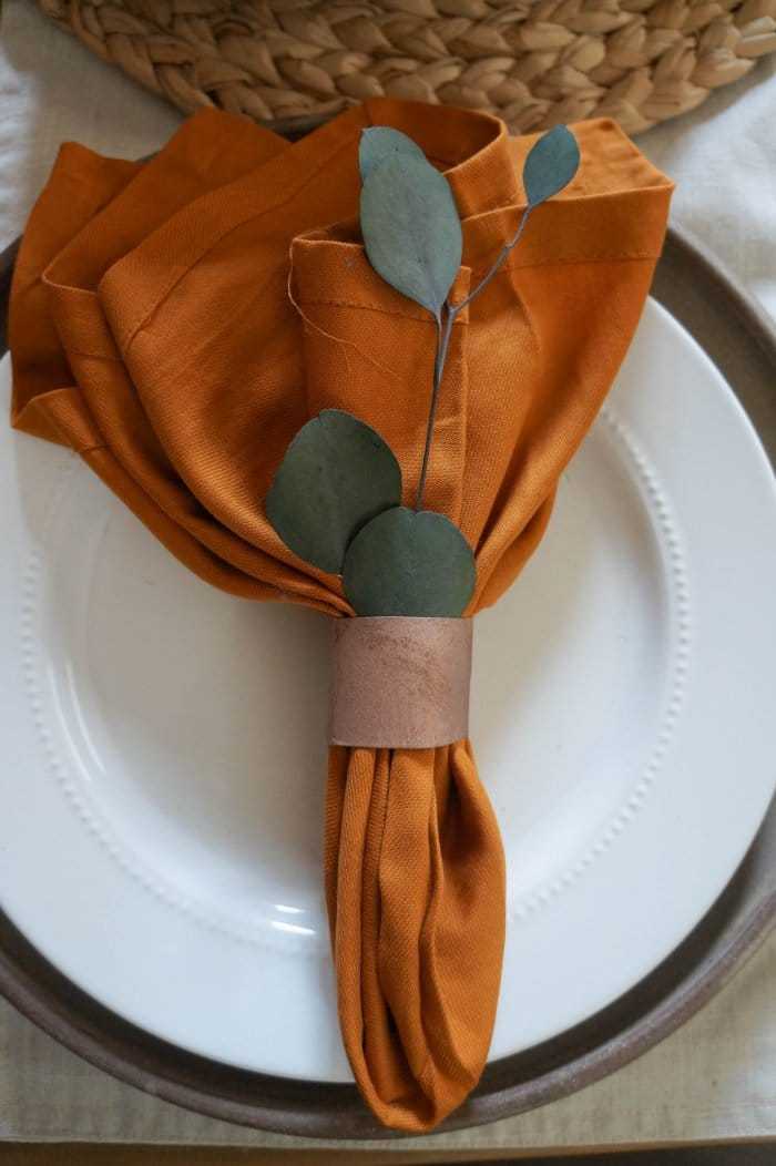 These simple napkin rings will add a beautiful copper touch to your holiday meals. (Photo by Deb Foglia)