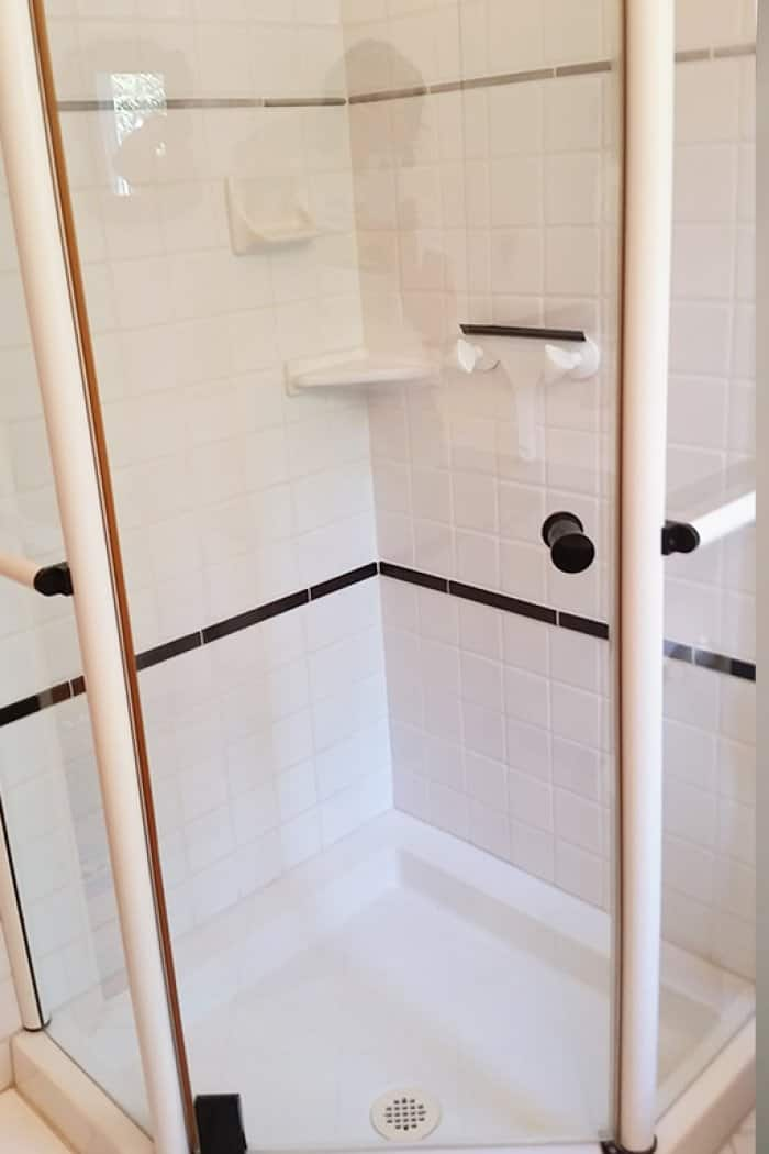 before and after shower remodel