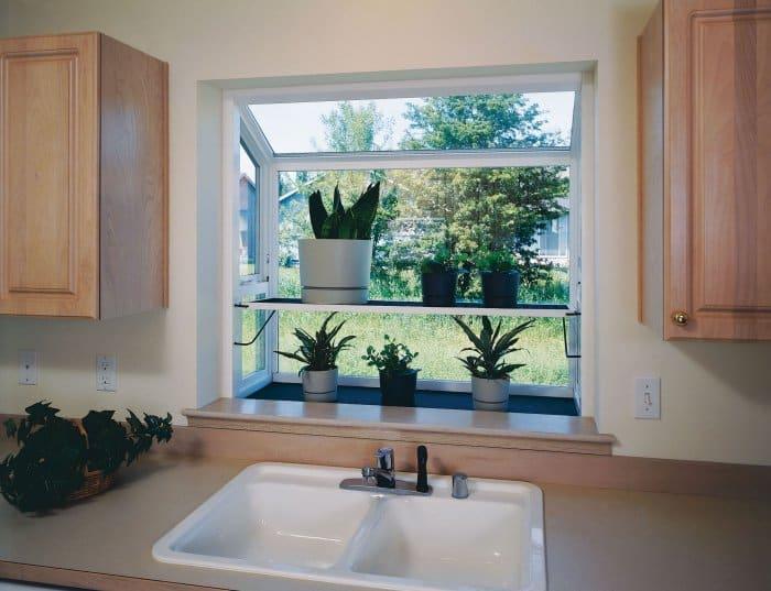 garden window plants in kitchen