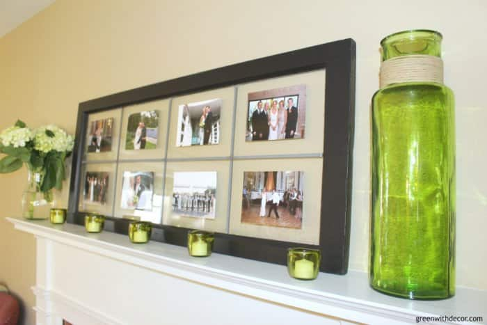 reclaimed window picture frame DIY project